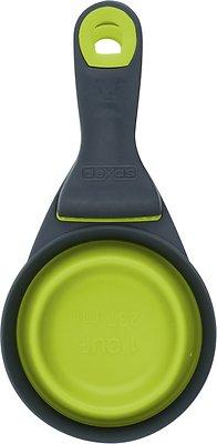 Dexas Popware for Pets Collapsible KlipScoop, Gray/Green, 1 cup