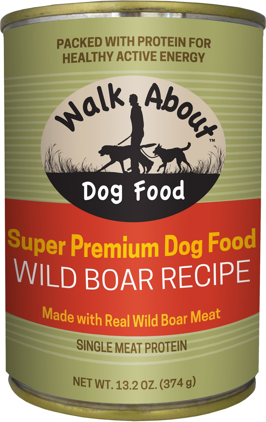 Walk About Grain-Free Wild Boar Recipe, Steamed Vegetables & Rosemary Canned Dog Food Image
