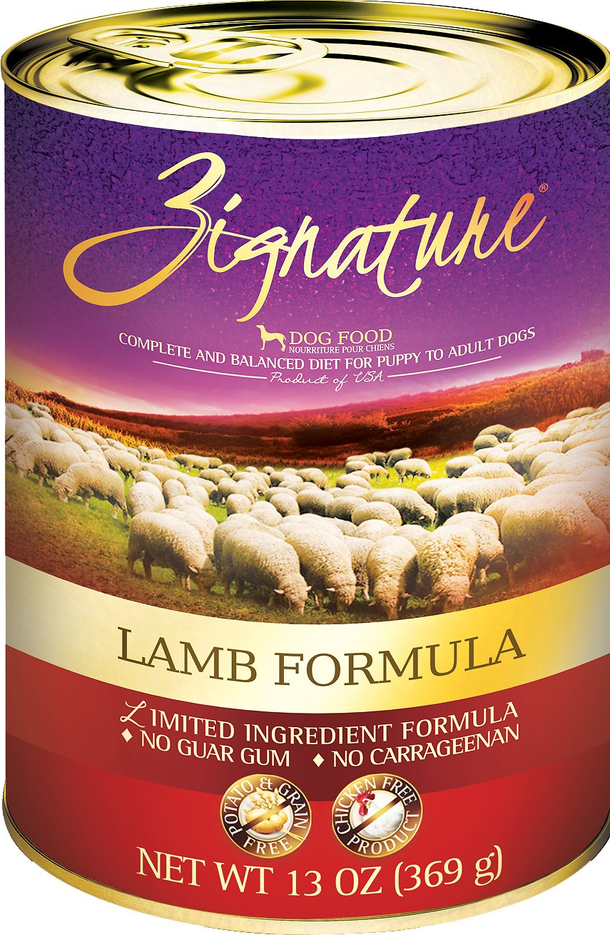 Zignature Lamb Limited Ingredient Formula Grain-Free Canned Dog Food Image
