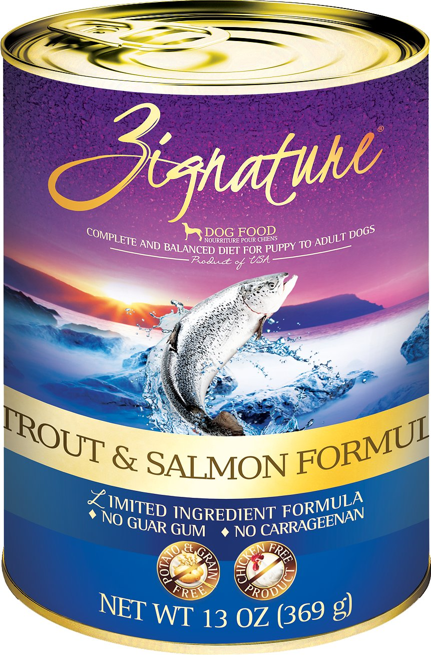 Zignature Trout & Salmon Limited Ingredient Formula Grain-Free Canned Dog Food Image