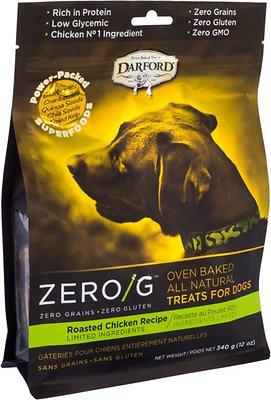 Darford Zero/G Roasted Chicken Dog Treats, 12-oz bag