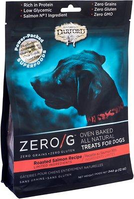 Darford Zero/G Roasted Salmon Dog Treats, 12-oz bag