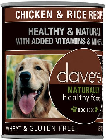Dave's Dog Food Naturally Healthy Chicken & Rice Recipe Canned Dog Food, 13.2-oz