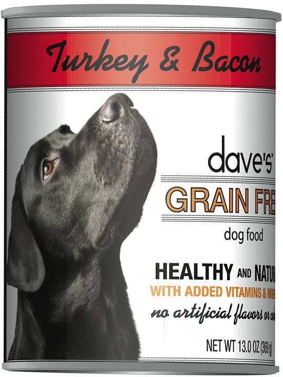 Dave's Dog Food Grain-Free Turkey & Bacon Recipe Canned Dog Food Image