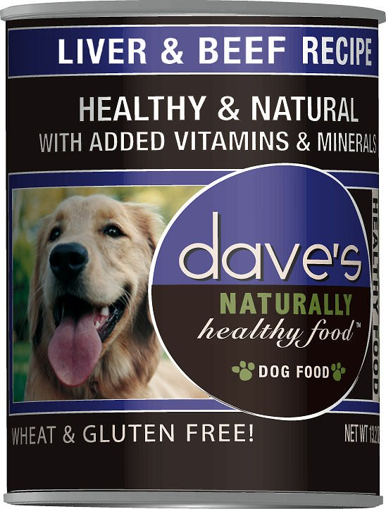Dave's Dog Food Naturally Healthy Liver & Beef Recipe Canned Dog Food, 13-oz