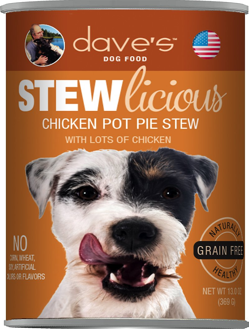 Dave's Dog Food Stewlicious Grain-Free Chicken Pot Pie Stew Canned Dog Food Image