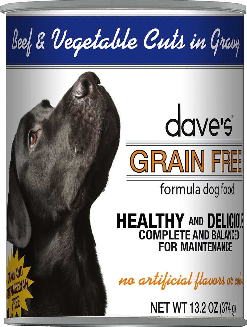 Dave's Dog Food Grain-Free Beef & Vegetable Cuts in Gravy Canned Dog Food Image