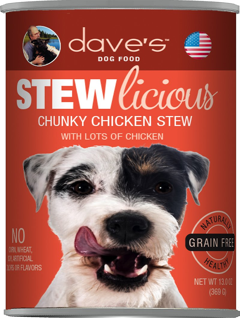 Dave's Dog Food Stewlicious Grain-Free Chunky Chicken Stew Canned Dog Food Image