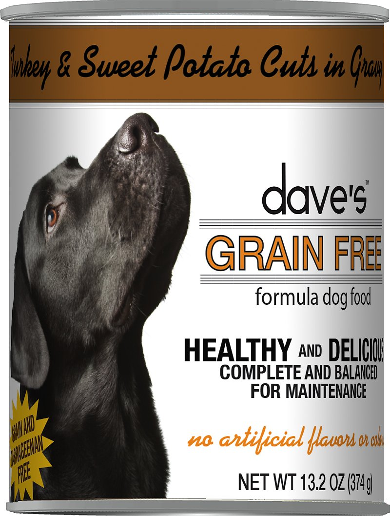 Dave's Dog Food Grain-Free Turkey & Sweet Potato Cuts in Gravy Canned Dog Food Image
