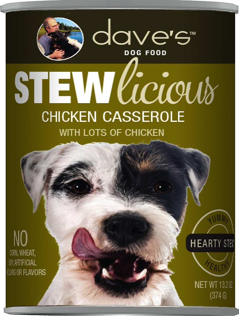 Dave's Dog Food Stewlicious Chicken Casserole Canned Dog Food Image