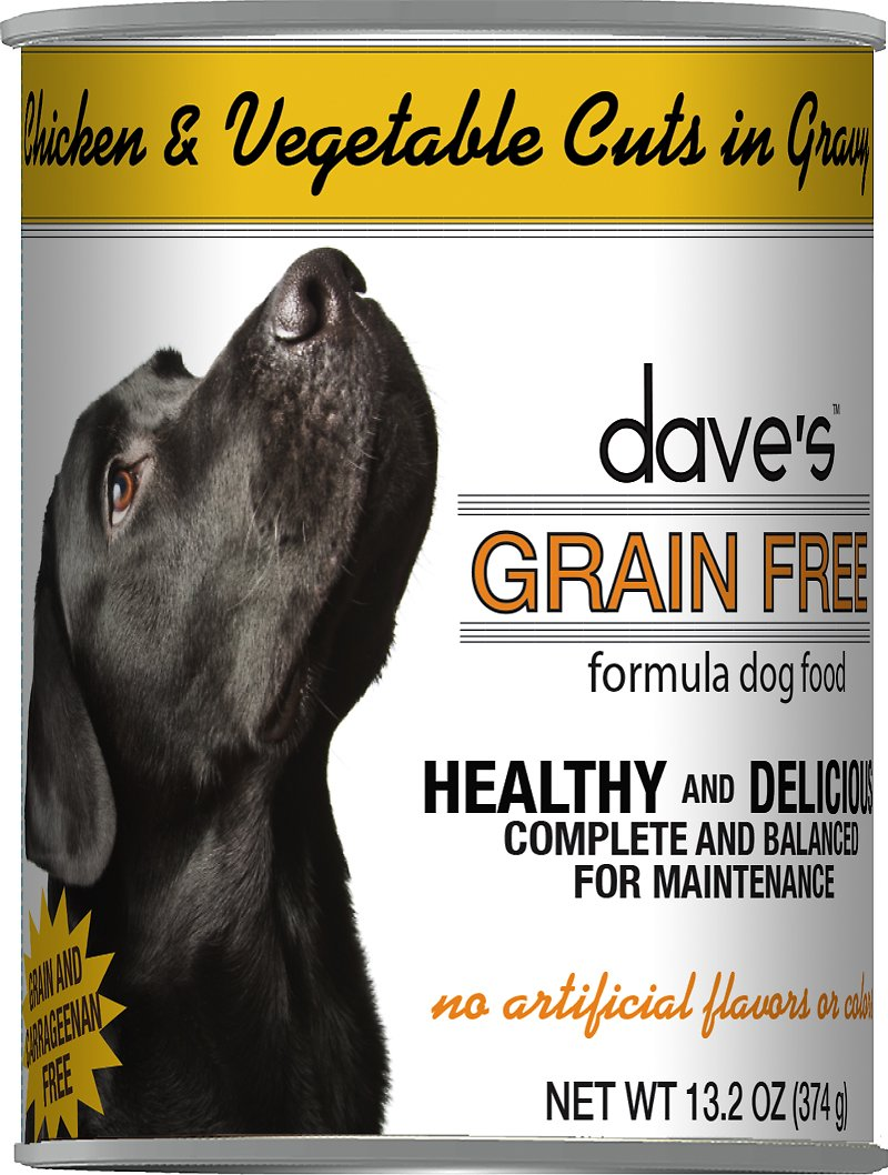 Dave's Dog Food Grain-Free Chicken & Vegetable Cuts in Gravy Canned Dog Food Image