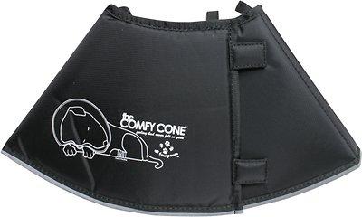 Comfy Cone E-Collar for Dogs & Cats, Black, Medium