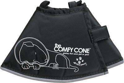 Comfy Cone E-Collar for Dogs & Cats, Black, Small