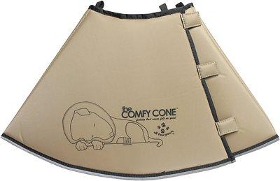 Comfy Cone E-Collar for Dogs & Cats, Tan, Medium-Extra Long