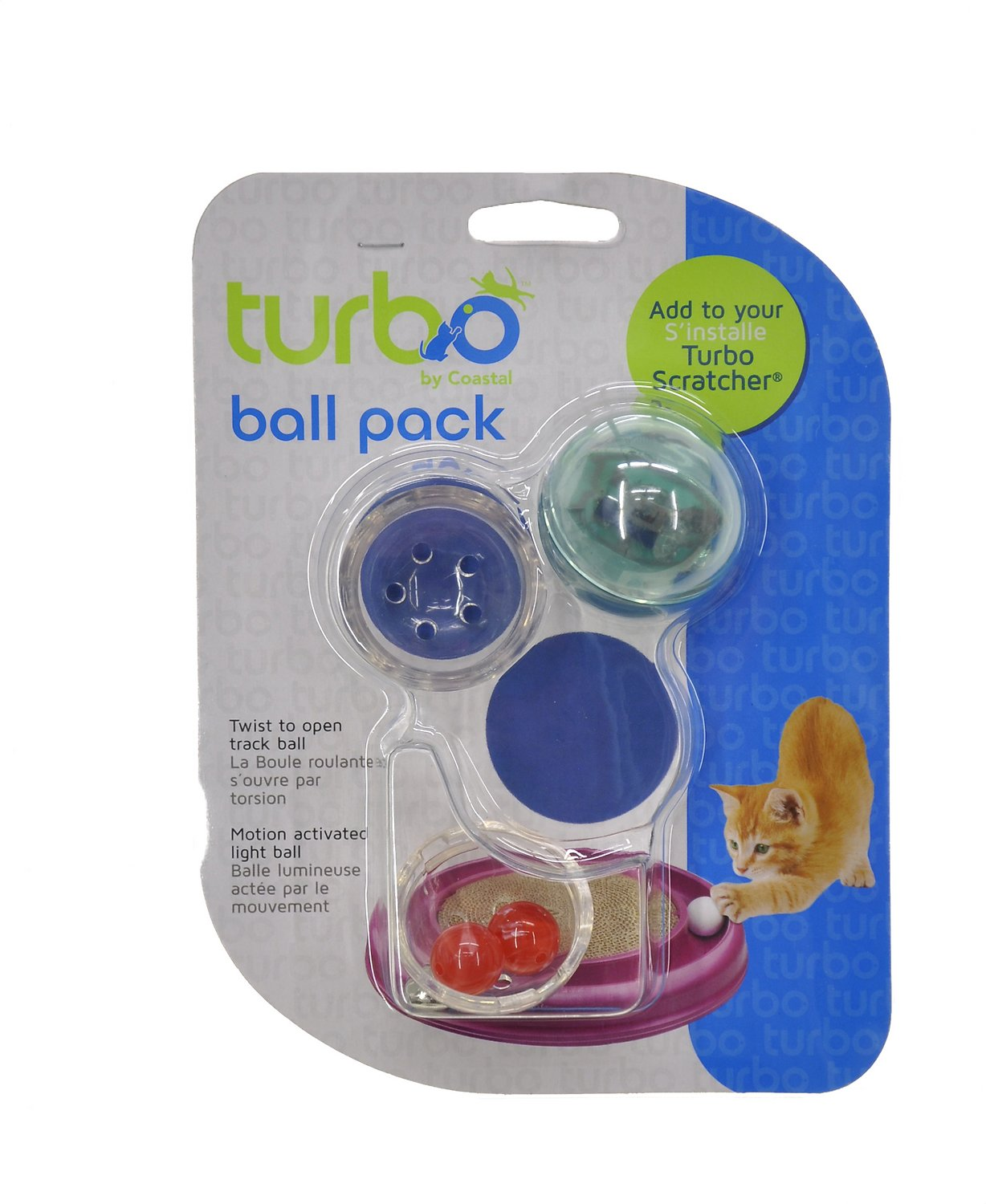 Turbo Assorted Ball Pack Cat Toy