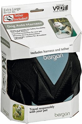 Bergan Auto Dog Harness with Tether, Medium