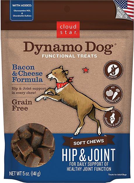 Cloud Star Dynamo Dog Hip & Joint Soft Chews Bacon & Cheese Formula Dog Treats Image