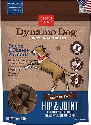 Cloud Star Dynamo Dog Hip & Joint Soft Chews Bacon & Cheese Formula Dog Treats, 14-oz bag