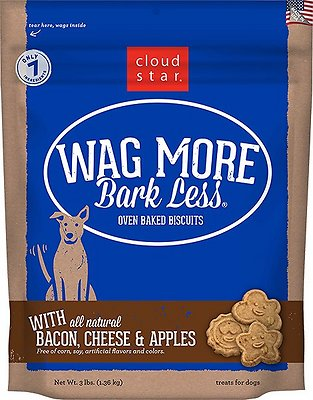 Cloud Star Wag More Bark Less Oven Baked with Bacon, Cheese & Apples Dog Treats, 3-lb bag