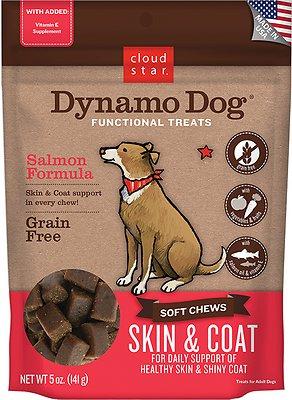 Cloud Star Dynamo Dog Skin & Coat Soft Chews Salmon Formula Dog Treats, 5-oz bag