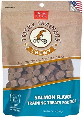 Cloud Star Chewy Tricky Trainers Salmon Flavor Dog Treats, 14-oz bag