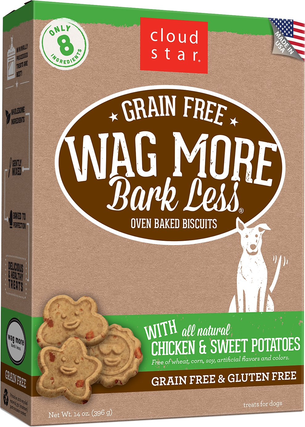 Cloud Star Wag More Bark Less Grain-Free Oven Baked with Chicken & Sweet Potatoes Dog Treats Image