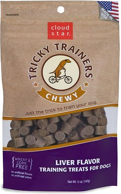 Cloud Star Chewy Tricky Trainers Liver Flavor Dog Treats, 5-oz bag