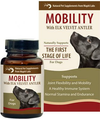 Wapiti Labs Mobility Formula Dog Powder Supplement, 1.06-oz bottle