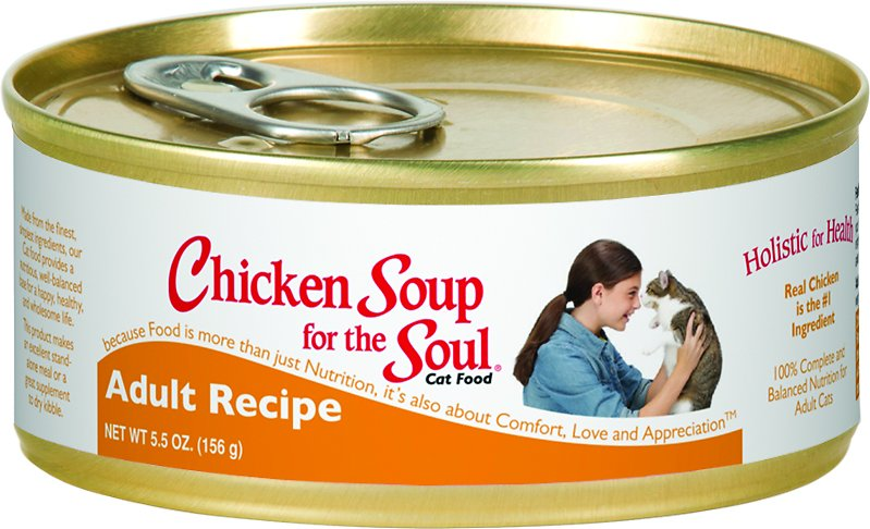 Chicken Soup for the Soul Adult Canned Cat Food, 5.5-oz