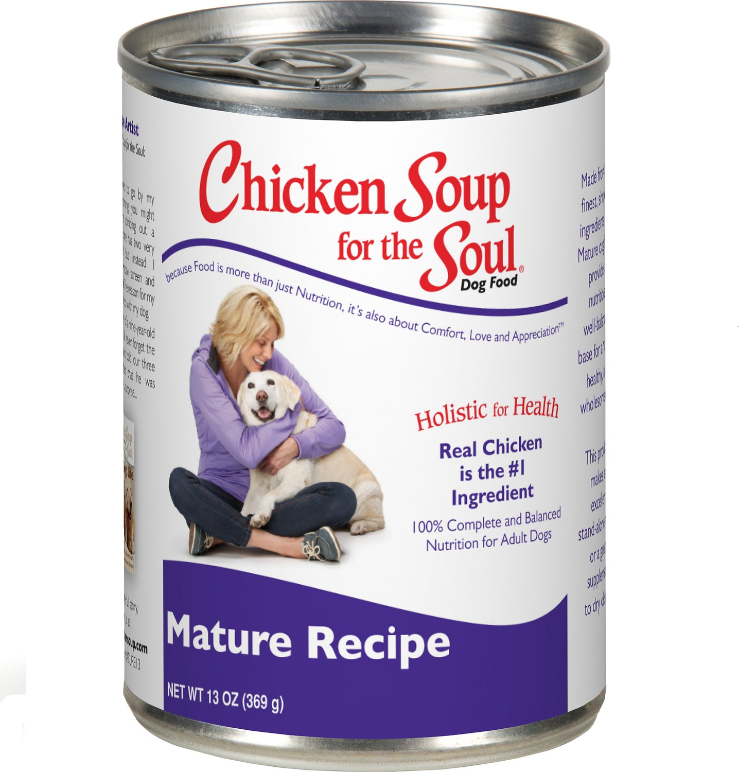 Chicken Soup for the Soul Mature Canned Dog Food, 13-oz