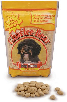 Charlee Bear Liver Flavor Dog Treats, 6-oz