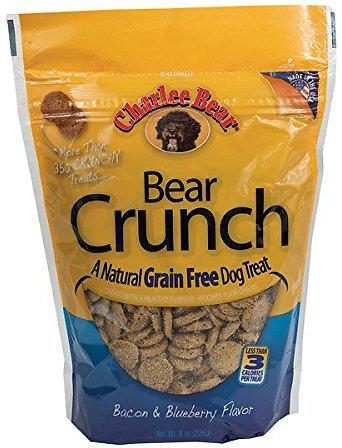 Charlee Bear Natural Bear Crunch Bacon & Blueberry Grain-Free Dog Treats, 8-oz bag Image