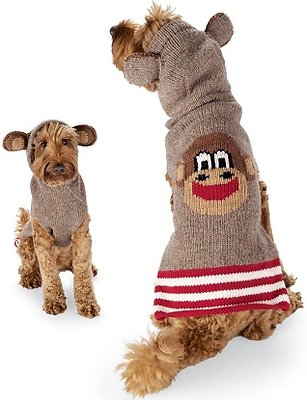 Chilly Dog Monkey Hoodie Dog & Cat Sweater, XX-Small