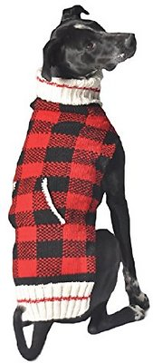 Chilly Dog Buffalo Plaid Dog & Cat Sweater, Large