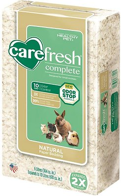 CareFresh Complete Small Animal Paper Bedding, White, 10-L
