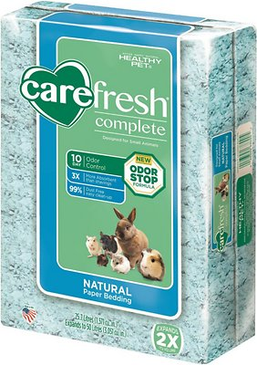 CareFresh Complete Small Animal Paper Bedding, Blue, 50-L