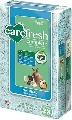 CareFresh Complete Small Animal Paper Bedding, Blue, 10-L