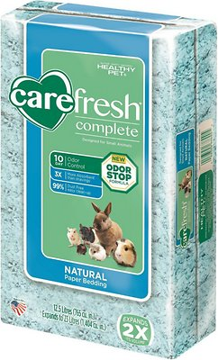 CareFresh Complete Small Animal Paper Bedding, Blue, 23-L