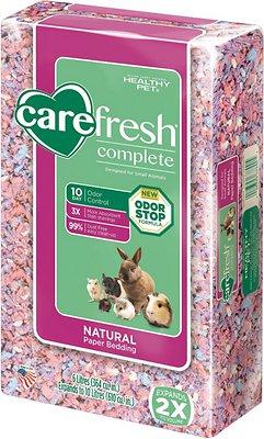 CareFresh Complete Small Animal Paper Bedding, Confetti, 10-L