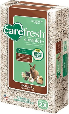 CareFresh Complete Small Animal Paper Bedding, Natural, 30-L
