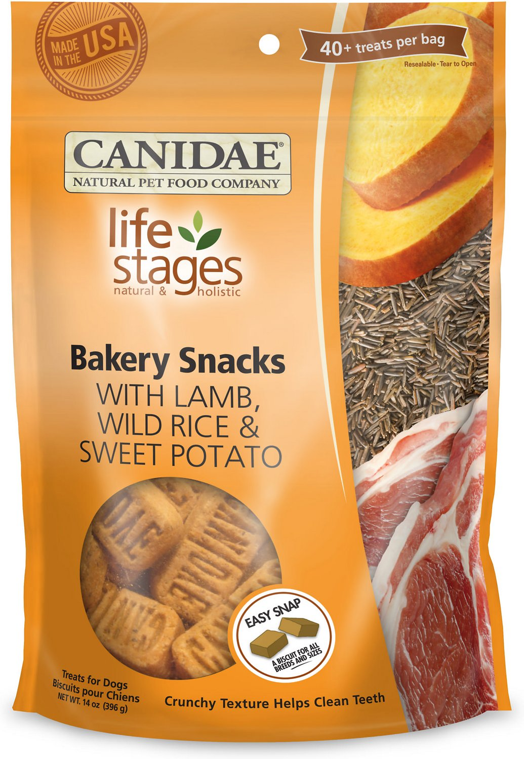 Canidae Life Stages Bakery Snacks with Lamb, Wild Rice & Sweet Potato Dog Treats, 14-oz bag (Weights: 14.08 ounces) Image