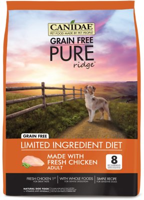 Canidae Grain-Free PURE Ridge Formula with Fresh Chicken Limited Ingredient Adult Dry Dog Food, 24-lb