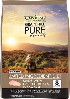 Canidae Grain-Free PURE Elements with Chicken Limited Ingredient Diet Dry Cat Food, 4-lbs