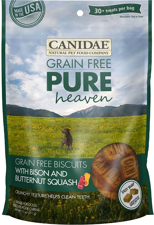 Canidae Grain-Free PURE Heaven Biscuits with Bison & Butternut Squash Crunchy Dog Treats, 11-oz bag Image
