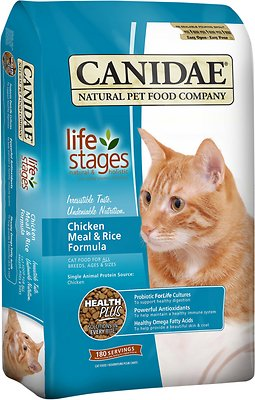 Canidae Life Stages Chicken Meal & Rice Formula Dry Cat Food, 15-lb
