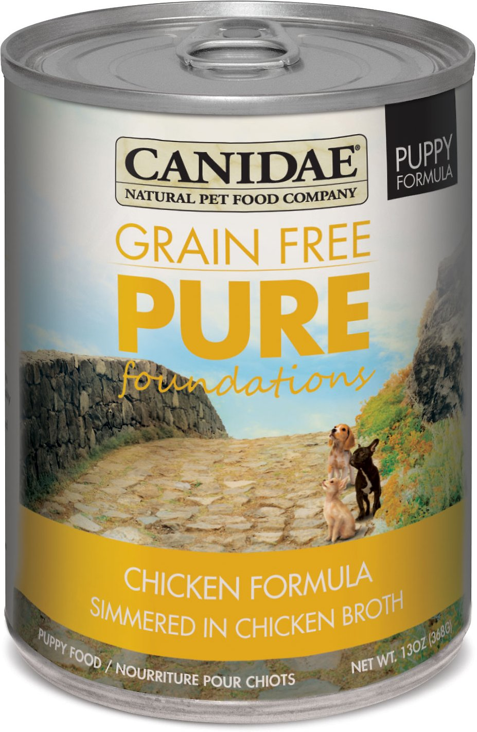 Canidae Grain-Free PURE Foundations Puppy Formula with Chicken Canned Dog Food, 13-oz