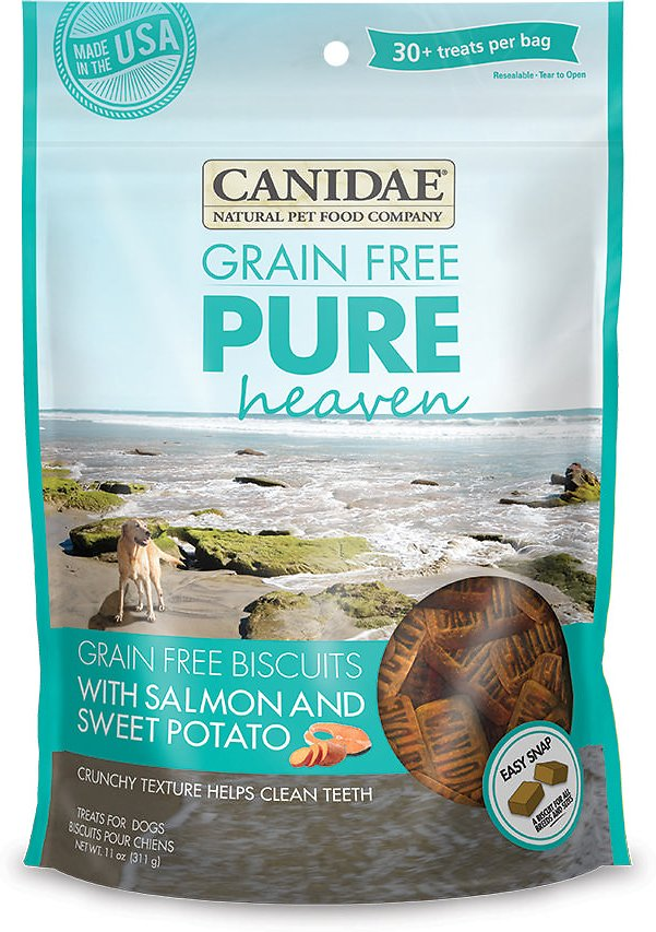 Canidae Grain-Free PURE Heaven Biscuits with Salmon & Sweet Potato Crunchy Dog Treats, 11-oz bag (Weights: 11.04 ounces) Image