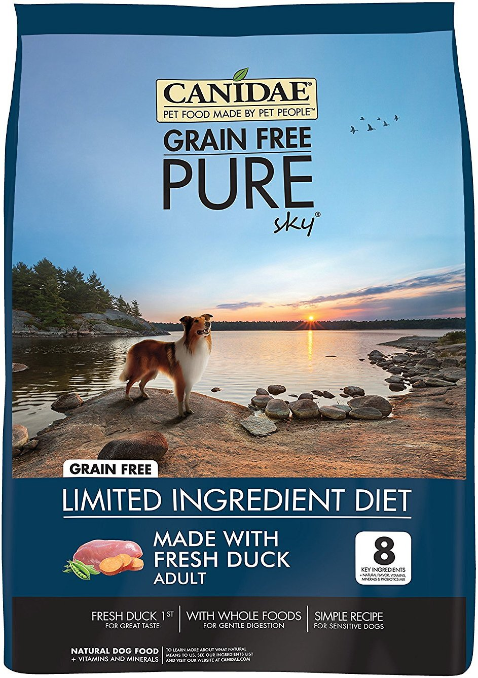 Canidae Grain-Free PURE Sky with Duck Limited Ingredient Diet Adult Dry Dog Food Image