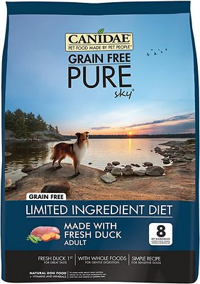 Canidae Grain-Free PURE Sky with Duck Limited Ingredient Diet Adult Dry Dog Food, 12-lb bag