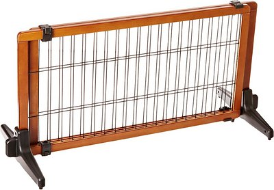 Carlson Pet Products Design Studio Freestanding Extra Wide Pet Gate, 20-in